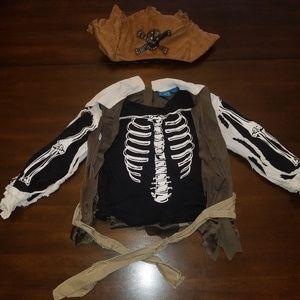 Kids Skeleton Pirate Halloween costume